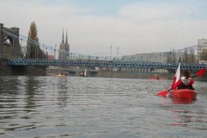 8 kajak Wroclaw Odra Most Grunwaldzki
